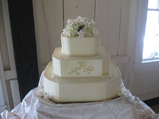 Tmx 1378340892796 Monogrammed Weddingcake.jp Concord, MA wedding cake