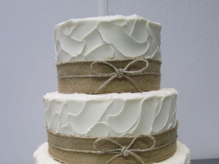Tmx 1453216146661 Burlap With Bow Three Tier Concord, MA wedding cake