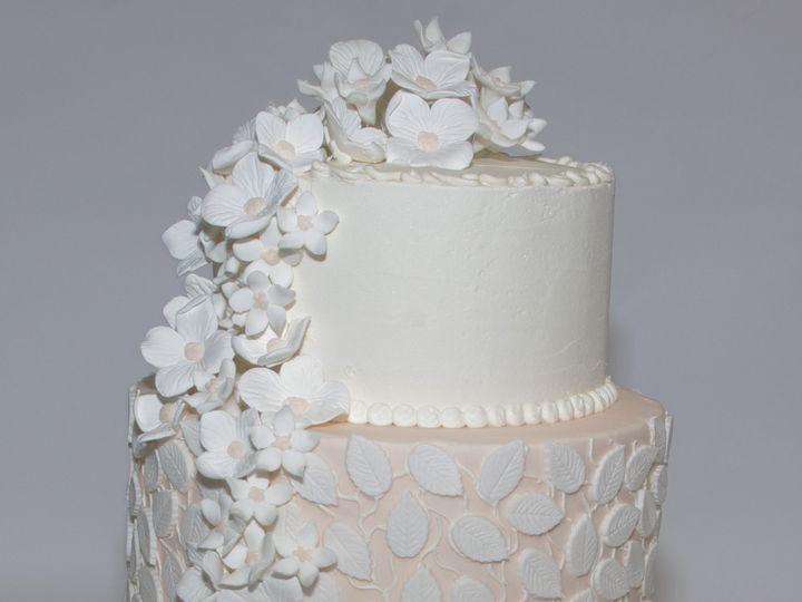 Tmx 1453216174962 Leaves And Flowers Three Tier Concord, MA wedding cake