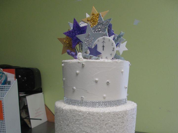 Tmx 1453216524127 Three Tier Sparkle And Stars Concord, MA wedding cake
