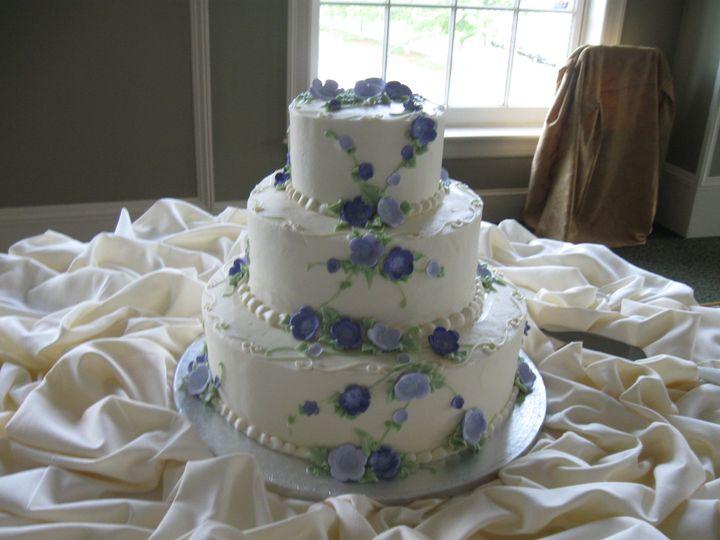 Tmx 1453216554803 White Three Tier With Flowers Concord, MA wedding cake