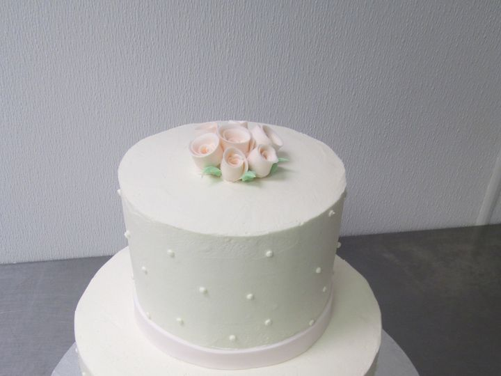 Tmx 1453216573712 White Two Tier With T Roses Concord wedding cake