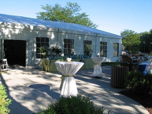 The Pavilion tent is the perfect setting for your wedding reception.  Start the reception off with...