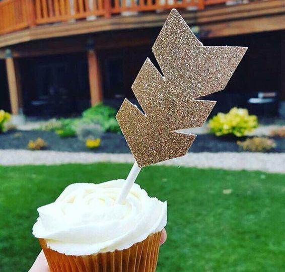 Arrow cupcake