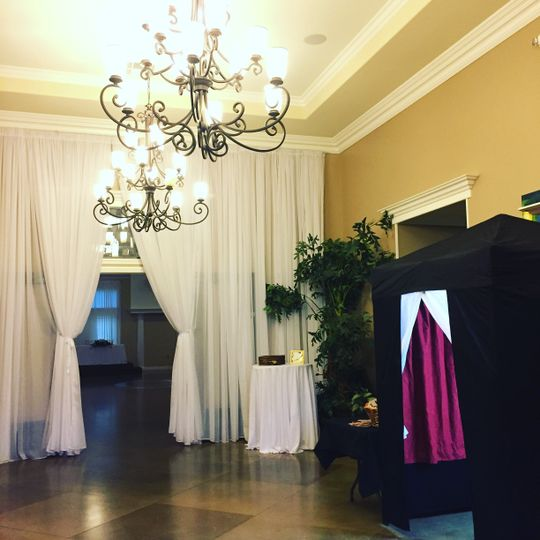 Our closed booth wedding ready