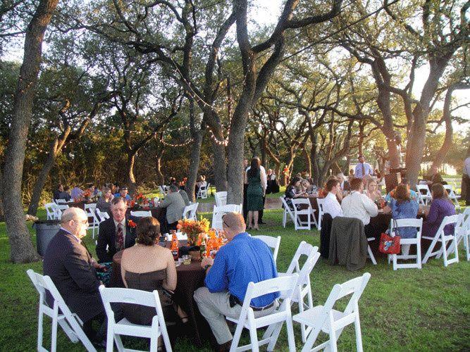 dinner under trees