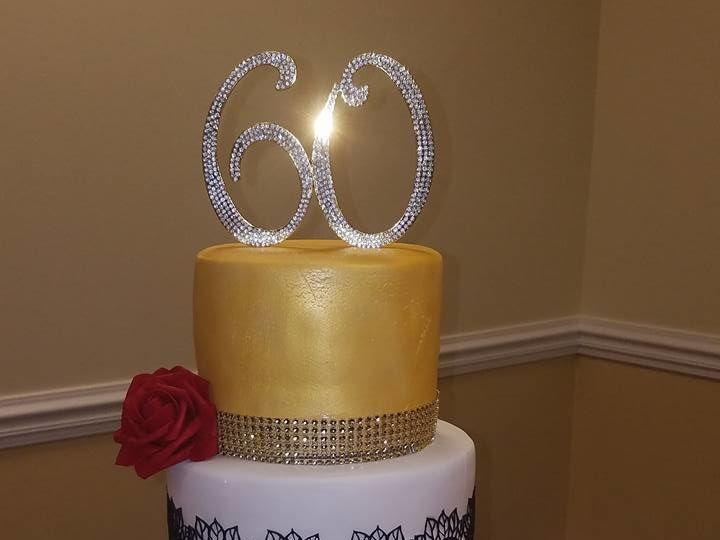 Tmx 1528807114 Af627be71dea4754 1528807113 A2ca9a772bbf7f52 1528807112877 5 60th Horsham wedding cake