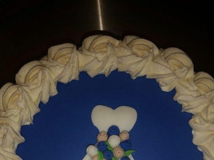 Tmx 1528807750 74860e5845fd1a6f 1528807749 9a3ae13e5939f369 1528807749322 2 BLUE DRESS Horsham wedding cake