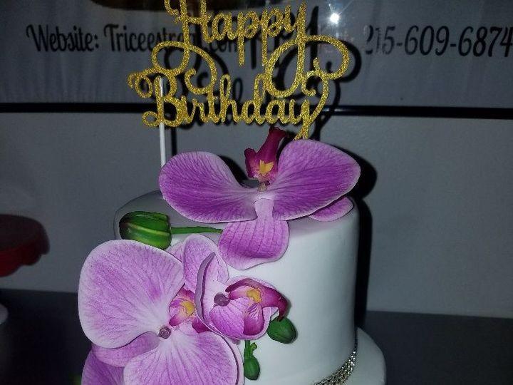 Tmx 1528817127 4cd6f2b59ef072a2 1528817126 B9c1677e8add0cc1 1528817125593 2 Orchid Horsham wedding cake