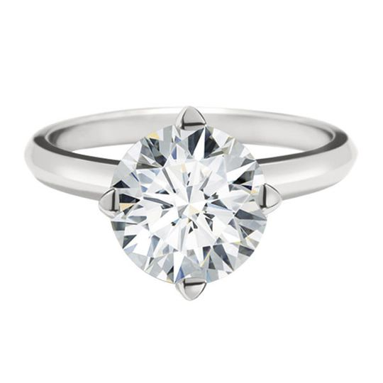 Forevermark Solitaire ring in platinum North South East West setting