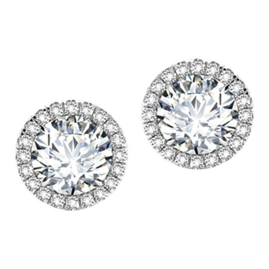 Forevermark Center of My Universe diamond stud earrings in 18kt white gold