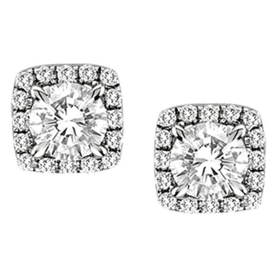 Forevermark Cushion Center of My Universe diamond stud earrings in 18kt white gold