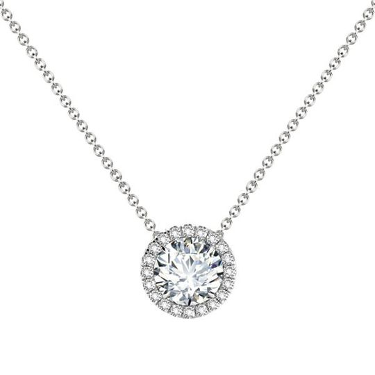 Forevermark Center of My Universe diamond halo pendant in 18kt white gold and available in a variety...