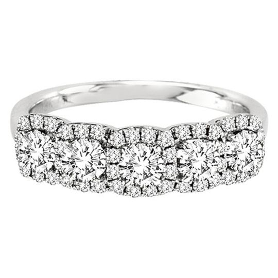 Forevermark Cushion Center of My Universe diamond wedding or anniversary band