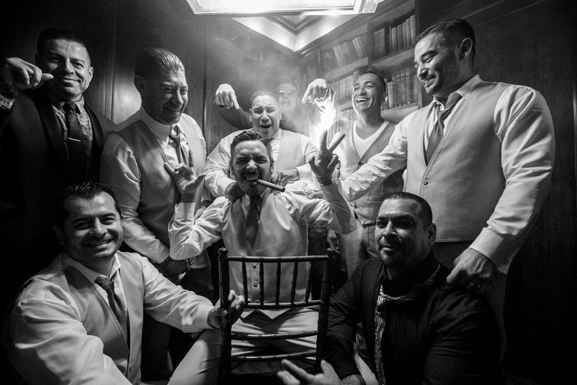Cigars and Groomsmen