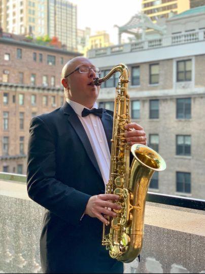 Saxophone player Jonathan