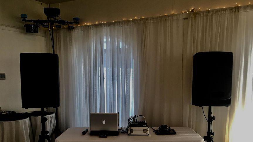 DJ booth arrangements