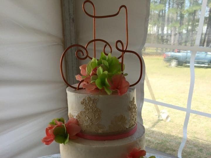 Tmx 1500319690508 Lace Battleboro wedding cake