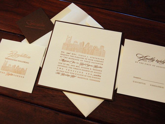 Sample brown invitation