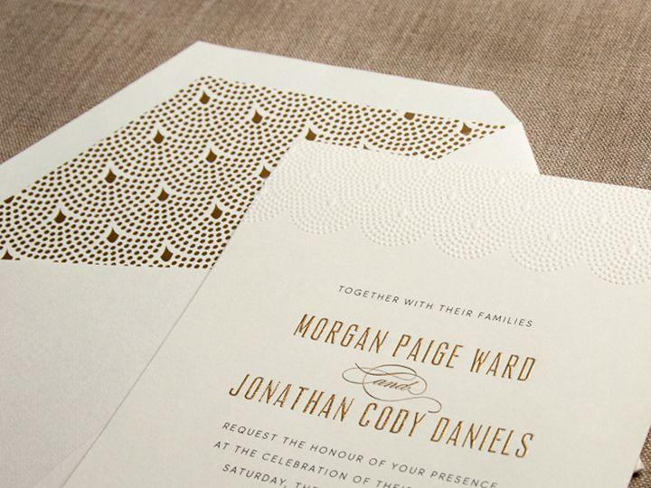 Tmx 1484858342732 William Arthur Scalloped Pearl Westwood, NJ wedding invitation