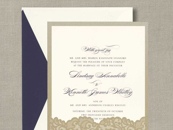 Tmx 1484858349429 William Arthur Lace Pocket Westwood, NJ wedding invitation