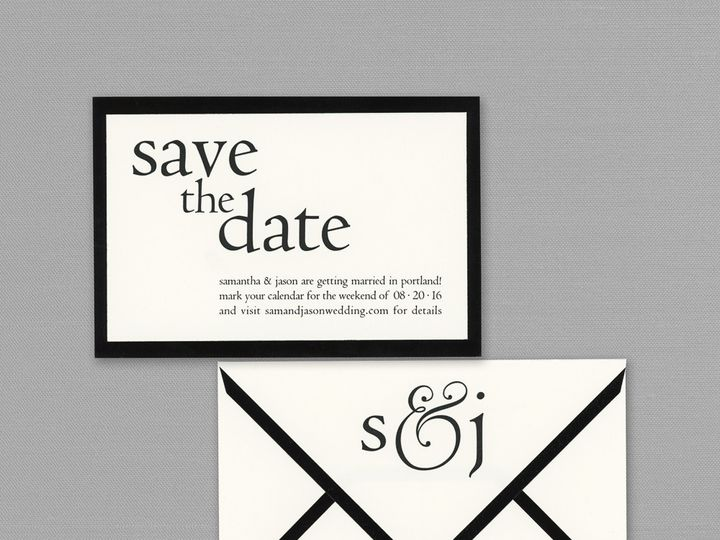 Tmx 1484858355967 Vera Wang Save The Date Westwood, NJ wedding invitation