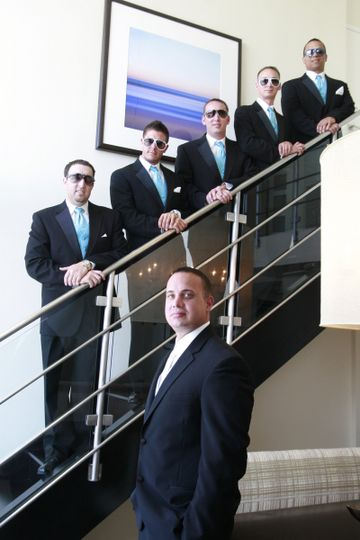 Wedding grooms posing for a cool grooms  The wedding was so much fun.  I love our wedding before...