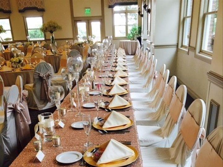 Tmx 1470241454254 Close Up Head Table Pinkgold Aa Ann Arbor, MI wedding venue
