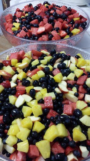Fruit Salad - Various fruits hand sliced.