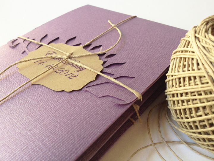 Tmx 1367518251383 5x7 Purple 4 Sacramento wedding invitation