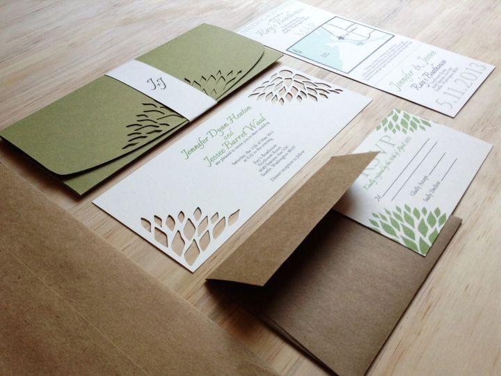Tmx 1367518376842 Green 1 Sacramento wedding invitation