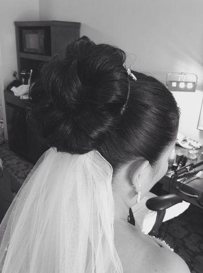 Clean classic bridal updo