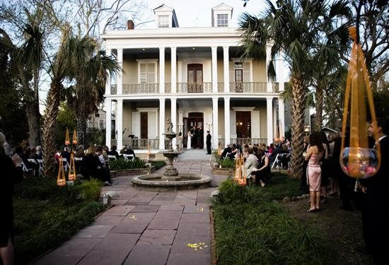 Ceremony in front of the house