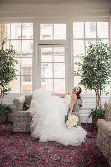 Bridal portrait at Collingswood Grand Ballroom