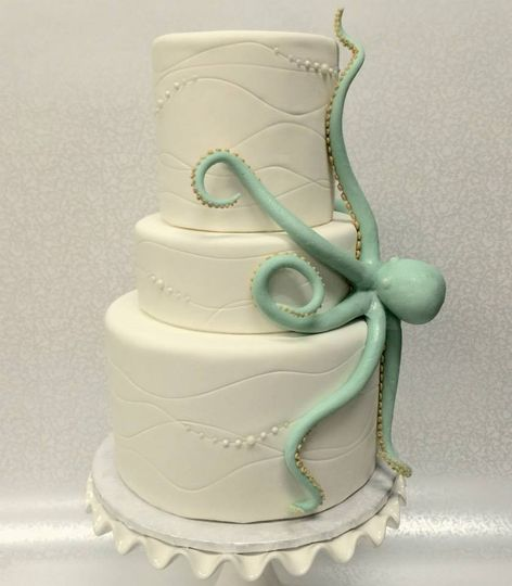 For the couple who doesn't want a traditional cake! This octopus is made from white chocolate, and...