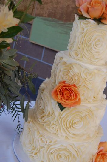 Ruffles and ruffles! Gorgeous ruffles made from white chocolate create an amazing texture on this...