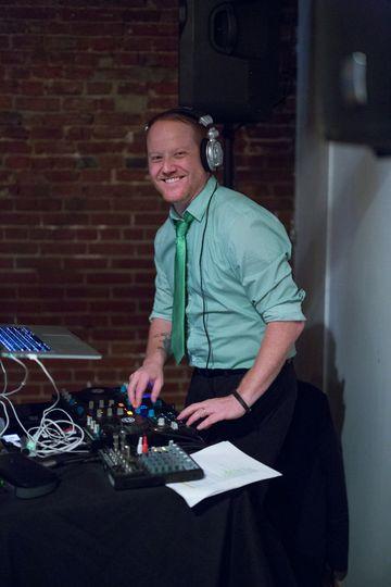 DJ smiling