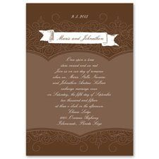 the guest's address is written on the back. This invitation features thermography printing, an...