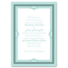Charming Frame Invitation A charming frame to introduce a charming wedding! A patterned frame with...