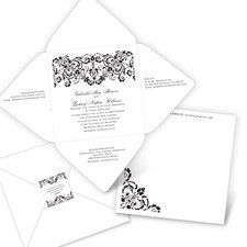 Radiant Borders Invitation Radiant borders shine in white against your choice of background color,...