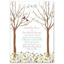 Love Springs Invitation Let this wedding invitation's delightful scene introduce your spring...