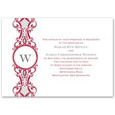 Banners and Swirls - Invitation A stately introduction to your elegant wedding style. A scroll-style...