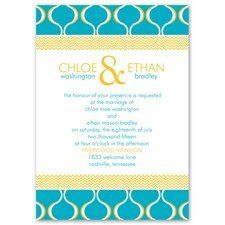 Simply Mod Invitation Mod patterns in your choice of colors make this mixed patterns wedding...