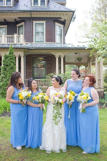 Ocean blue dresses