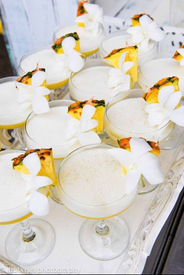hula girl frothy coupes