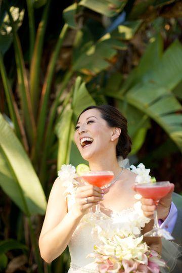 anna kin bride laughing