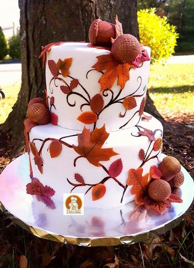 Fall themed cake