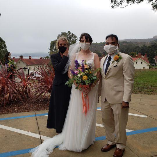Covid Wedding Ceremony & Flora