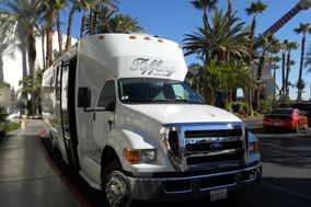 A Private Limousine and Party Bus