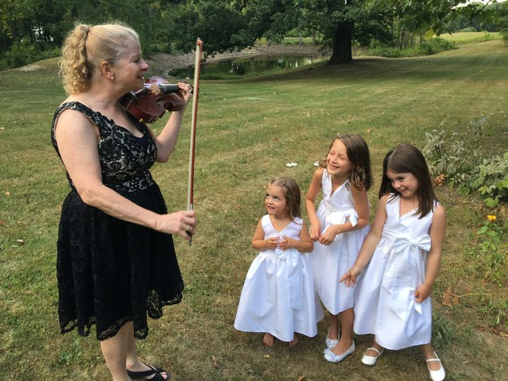 Julie with flower girls